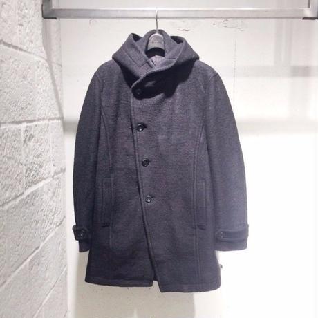 【Custom Culture】スライバーフーデッドコート ブラック