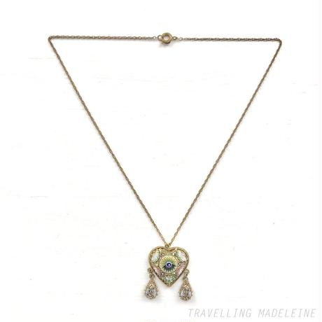 ANTIQUE Micro Mosaic Heart Necklace マイクロモザイク ハート ネックレス(Su19-247N)