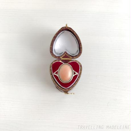 VINTAGE Oval Coral Ring 珊瑚 オーバル リング(W18-190R)