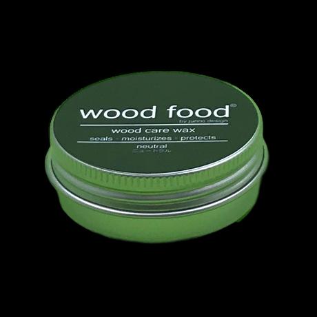 天然艶出し蜜蝋ワックスミニ『wood food』-ニュートラル