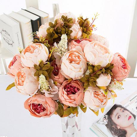 ぼたんブーケ✳珍しいアンティークカラー✳ アーティフィシャルフラワー 造花