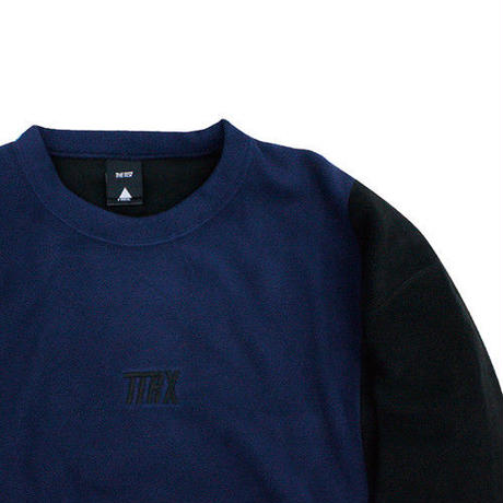 [TREKKIE TRAX × THE TEST] Fleece Crewneck Tops (Navy)