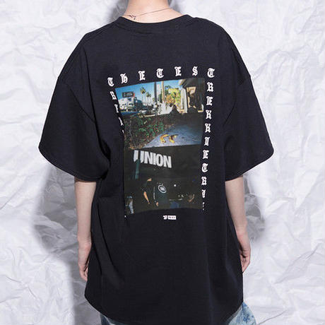 [TREKKIE TRAX × THE TEST] USA TOUR PHOTO S/S Tシャツ [BLACK]