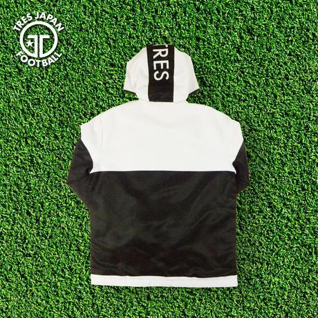 フーディージャケット(中綿入り)【ブラック/ホワイト、ネイビー/チャコール】