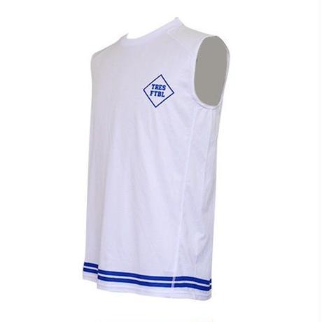 トレーニングシャツ(ノースリーブ)ホワイト/ブルー