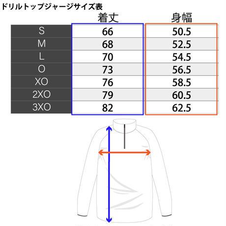 クオータージップジャージ【ブラック/ホワイト、ネイビー/チャコール】