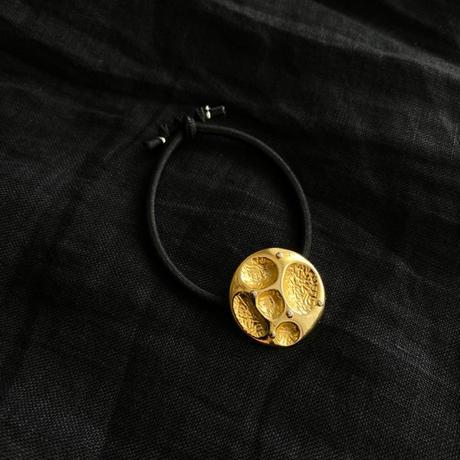 HEB / vintage button (gold・yellow gold4・brass flower)