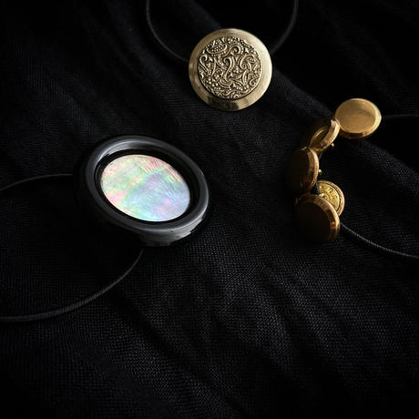 HEB / vintage button (metal gold5・metal silver・shell)