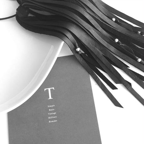 Fringe accessory (Black /silver ball)