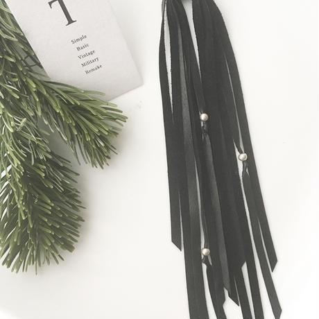 Fringe accessory (Black /silver ball)