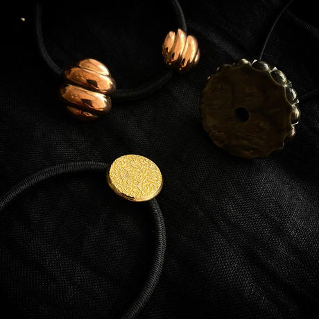 HEB / vintage button (marble・copper2・ gold animals)