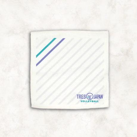 ラインカラーミニタオル(ホワイト)