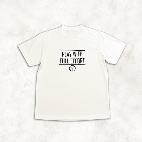 PLAY with FULL EFFORT ロゴTシャツ(ホワイト)