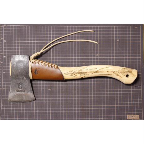 ハスクバーナハンドアックス用(全長38cmの斧) レザーネックガード