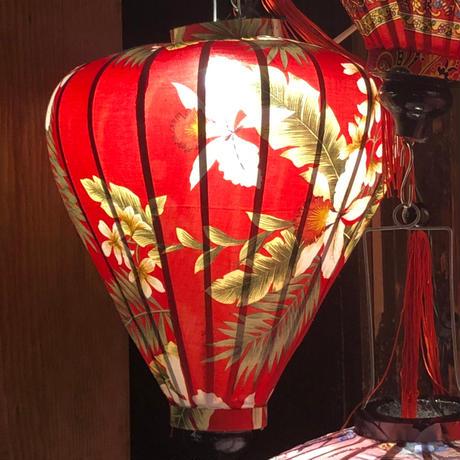 ベトナムランタン ほおずき形 Lサイズ 赤色【ボタニカル柄】