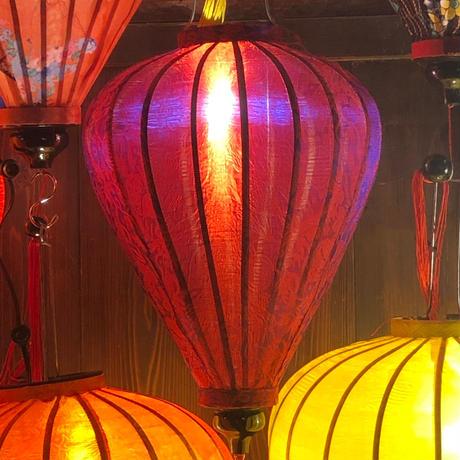 ベトナムランタン ほおずき形 Lサイズ 赤紫