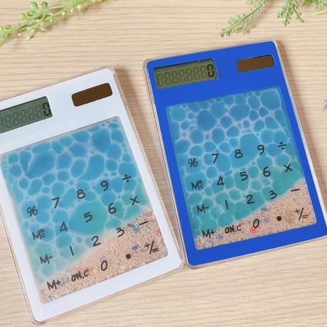 【O-033】海 水面レジン クリア 電卓