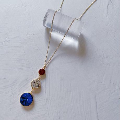 【N-036】スワロフスキー 3連 ネックレス