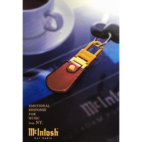 Mcintosh オリジナルキーホルダー「感性を刺激する、ゴールド・ブラウンのコントラスト」