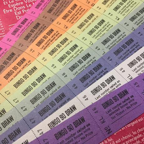 【イギリス】ビンゴチケット10色各10片 合計100片