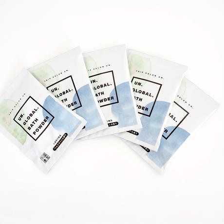 UN. GLOBAL BATH POWDER 入浴剤【ベルガモットの香り】25g《 5PACKセット》