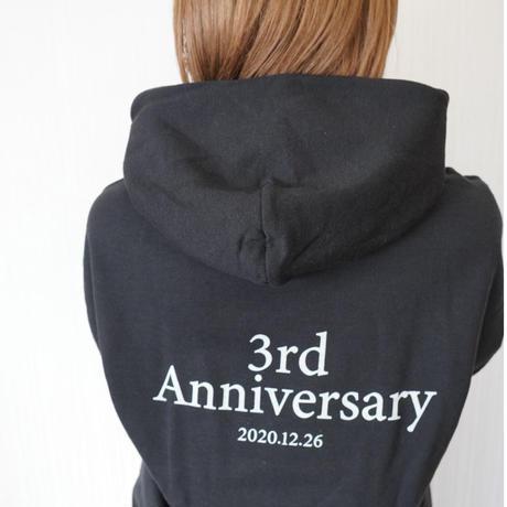 3周年記念パーカー【BLACK】