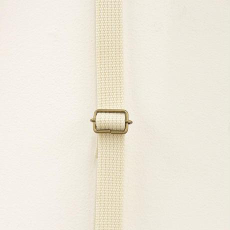 Diamant柄のミニショルダー white x brown