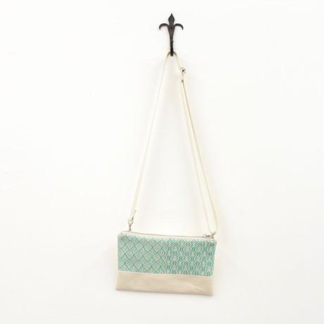 2柄入りのミニショルダー white x emerald