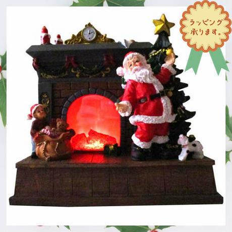 クリスマス 飾り LED ライト マントルピース オブジェ 置物 i0284