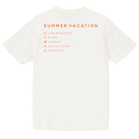 Summer Vacation Tee【White】
