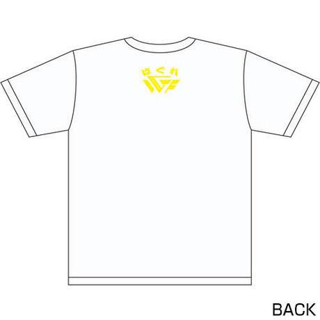 藤田和之 「野獣」リアルビーストTシャツ2020 Designed by HARIKEN【WHITE & YELLOW】
