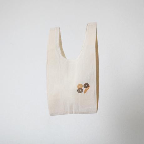 【エコバッグ(小)】パンとパグ / ブロックプリント