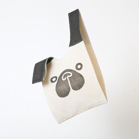 【エコバッグ(小)】パグ / ブロックプリント