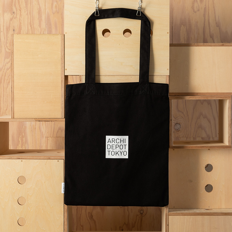 建築倉庫オリジナル メッセージトートバッグ(Black)