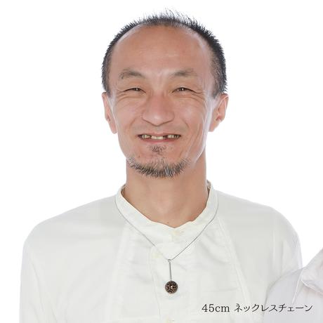 輪島塗 黒漆 蒔絵「唐草」ネックレス
