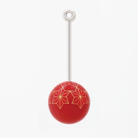 截金 彩色 紅「麻の葉」ネックレス