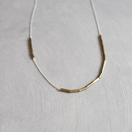 PIPE brass necklace