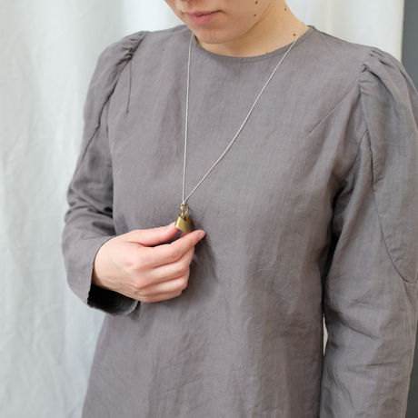 bobo (S) brass necklace -無地-