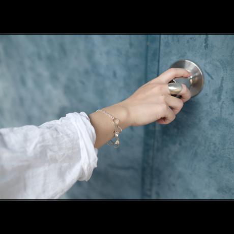 Black moor (M) 3twist Silver b Bracelet