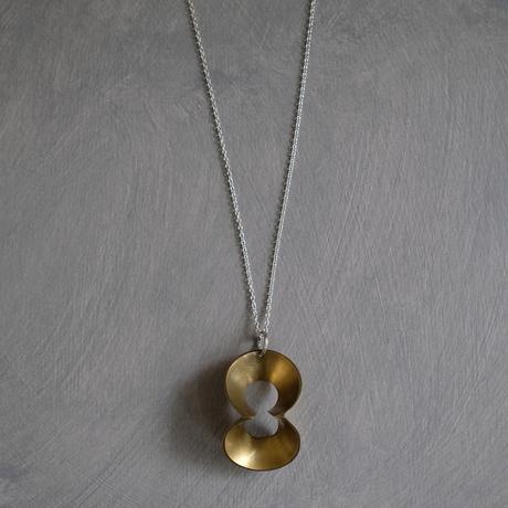 pump (L) brass necklace -無地-