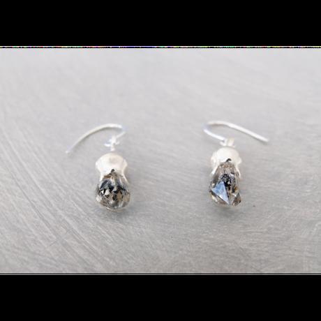 フタバアオイ silver pierce (水晶)