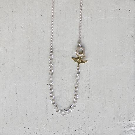 kanban brass necklace