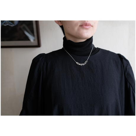 Black moor (S) 3 piece Silver Necklace