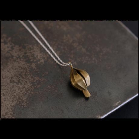アサツキのつぼみ  Brass Necklace