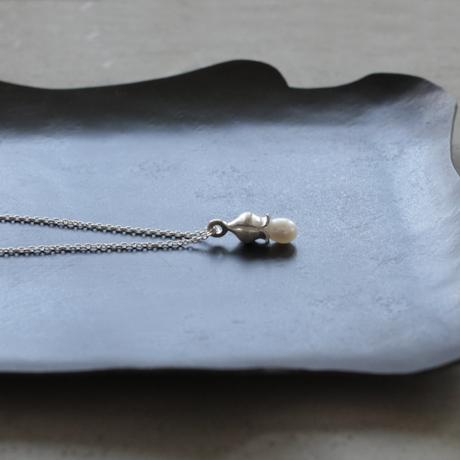 フタバオアイ silver necklace (淡水パール)