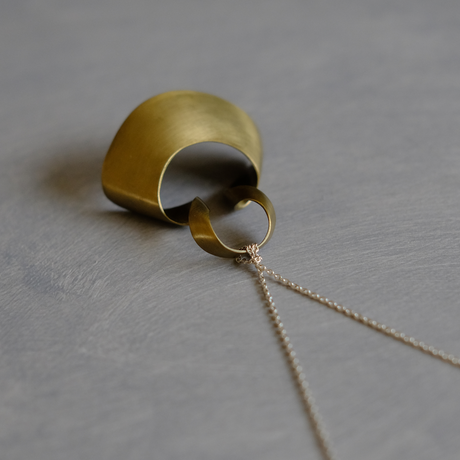 bobo (M) brass necklace  -無地-