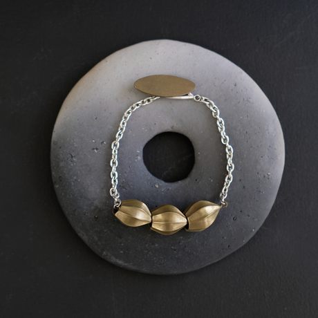 アサツキのつぼみ  Brass Bracelet
