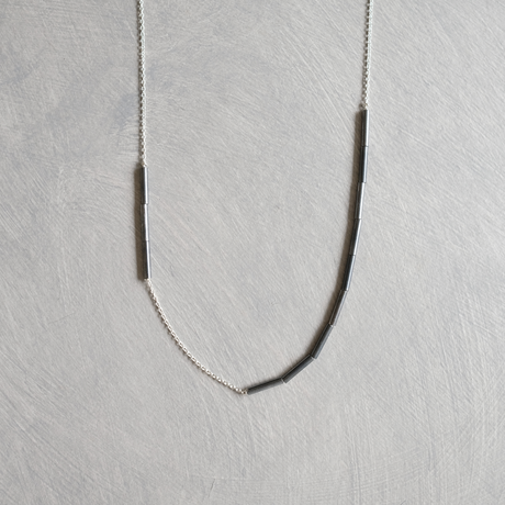PIPE silver necklace