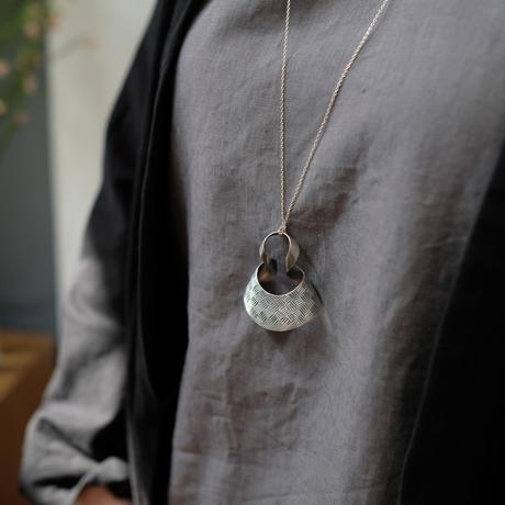 bobo (M) siver necklace -市松-