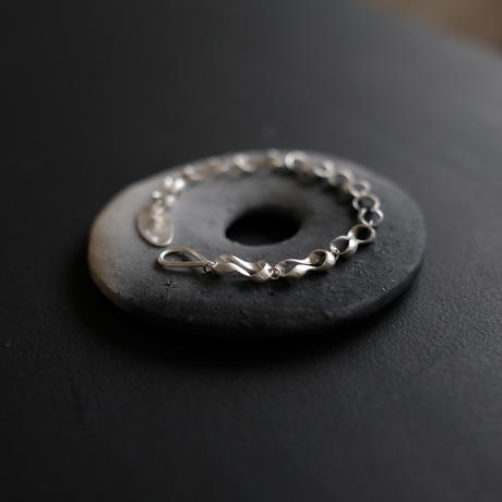 Black moor (S) 9 piece Silver Bracelet